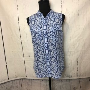 Equipment Femme Womens Blouse Size XS Blue Silk